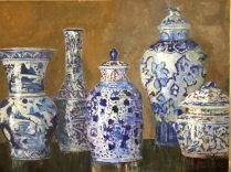 Blue and White Vases